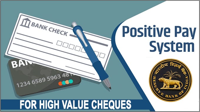 Positive Pay system for high value cheques